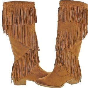 Not Rated Witty Giddy Fringe Boot